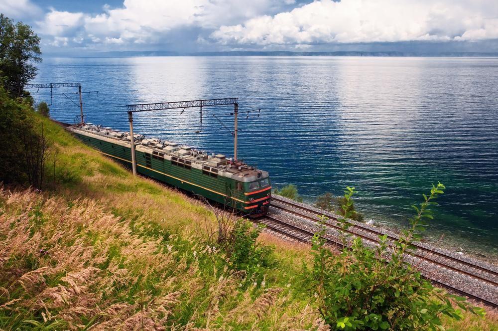Train on Trans Baikal Railway, Russia
