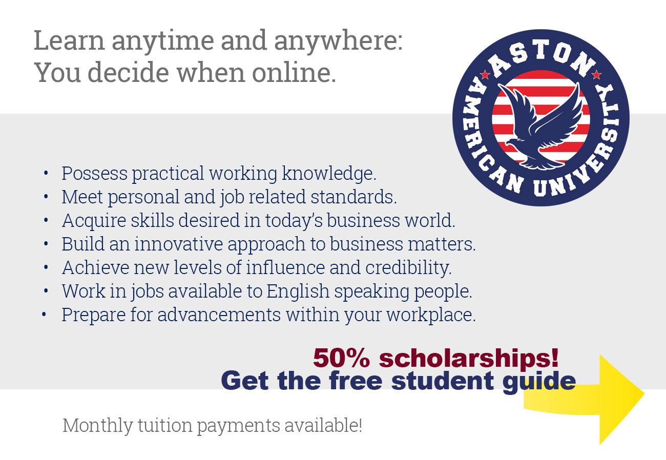 Aston American University in USA - Masters
