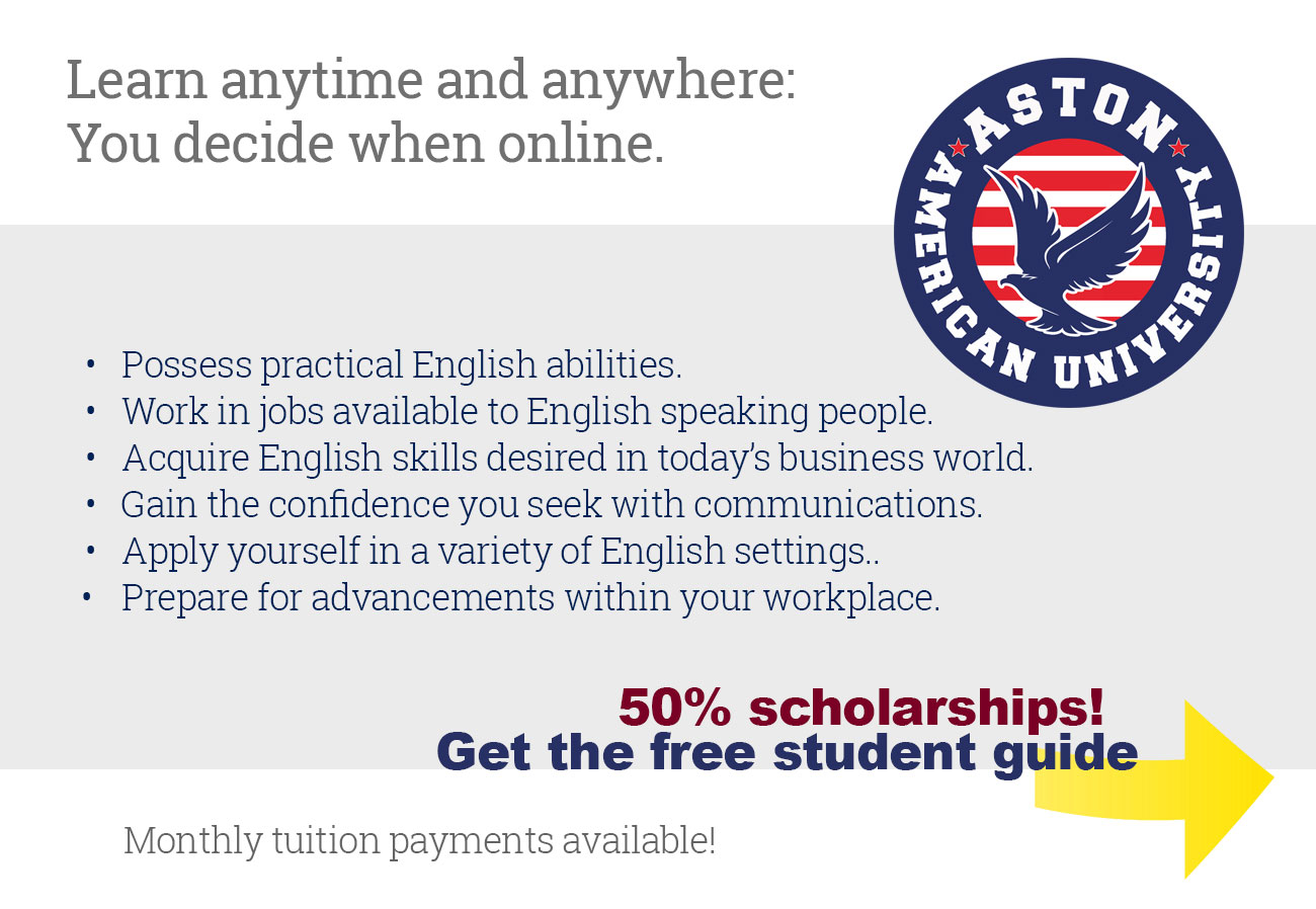 English as a Second Language - ESL (Online), Honolulu, USA  Online Courses!  2019
