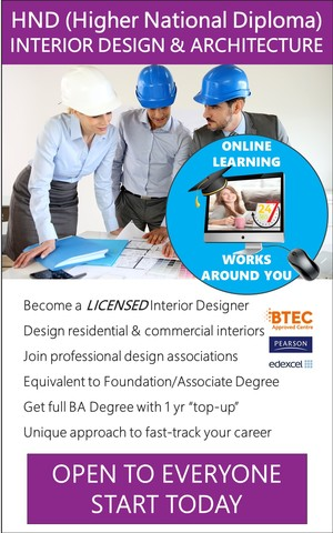 Interior Design - HND / Associate Degree Course (Online)