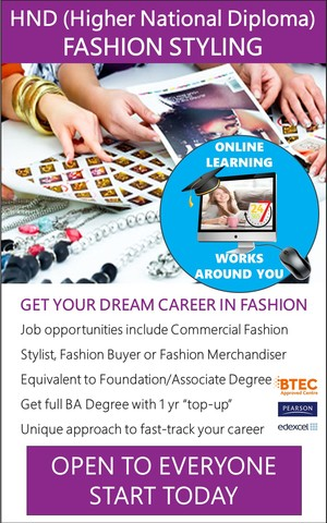 Fashion Styling - HND / Associate Degree Course (Online)