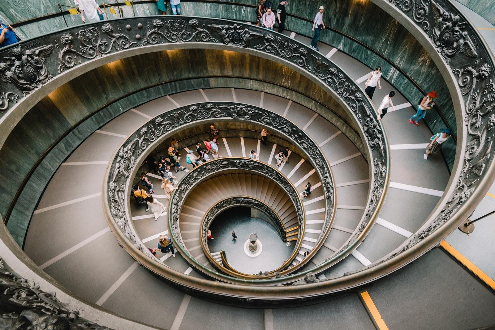 Spiral staircase in the Vatican City