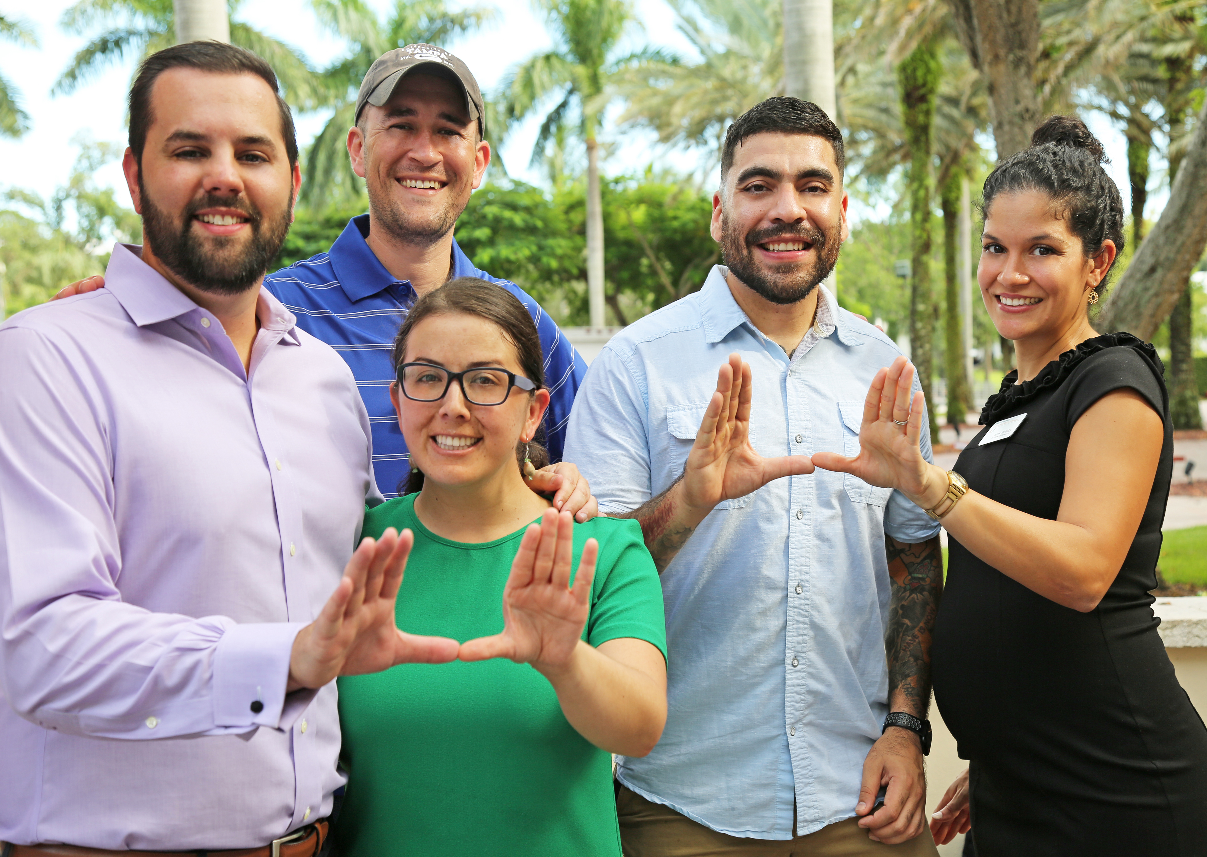 A group of University of Miami students.
