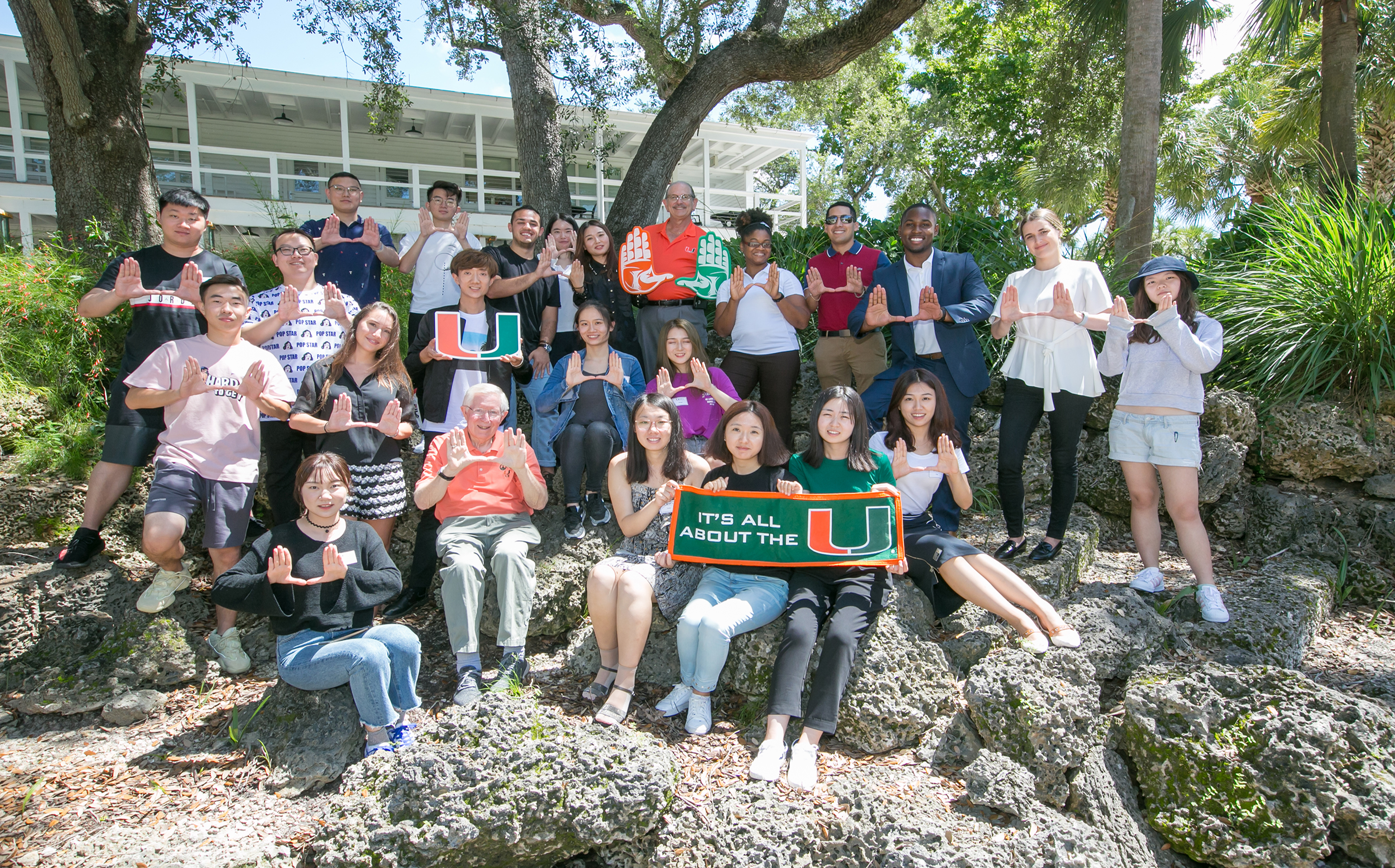 A photo at the MPA Orientation at the University of Miami.