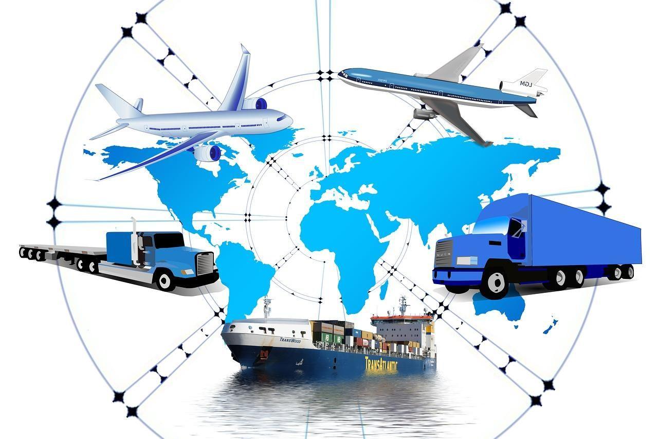 logistics, truck, frachtschiff