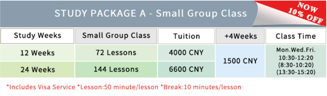 Small group class with visa