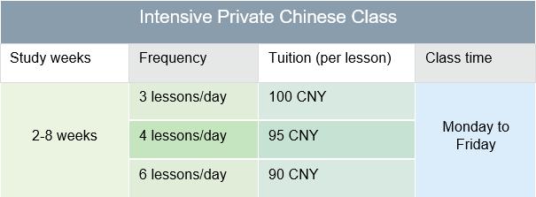Intensive private class