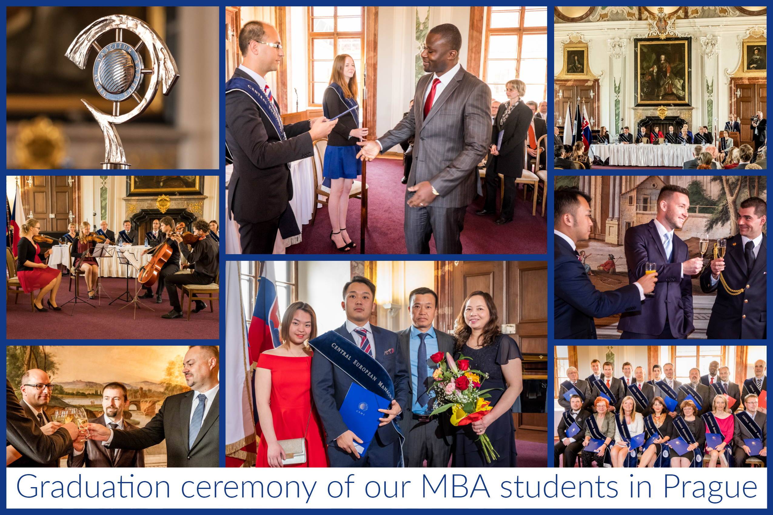 Graduation ceremony of our MBA student in Prague
