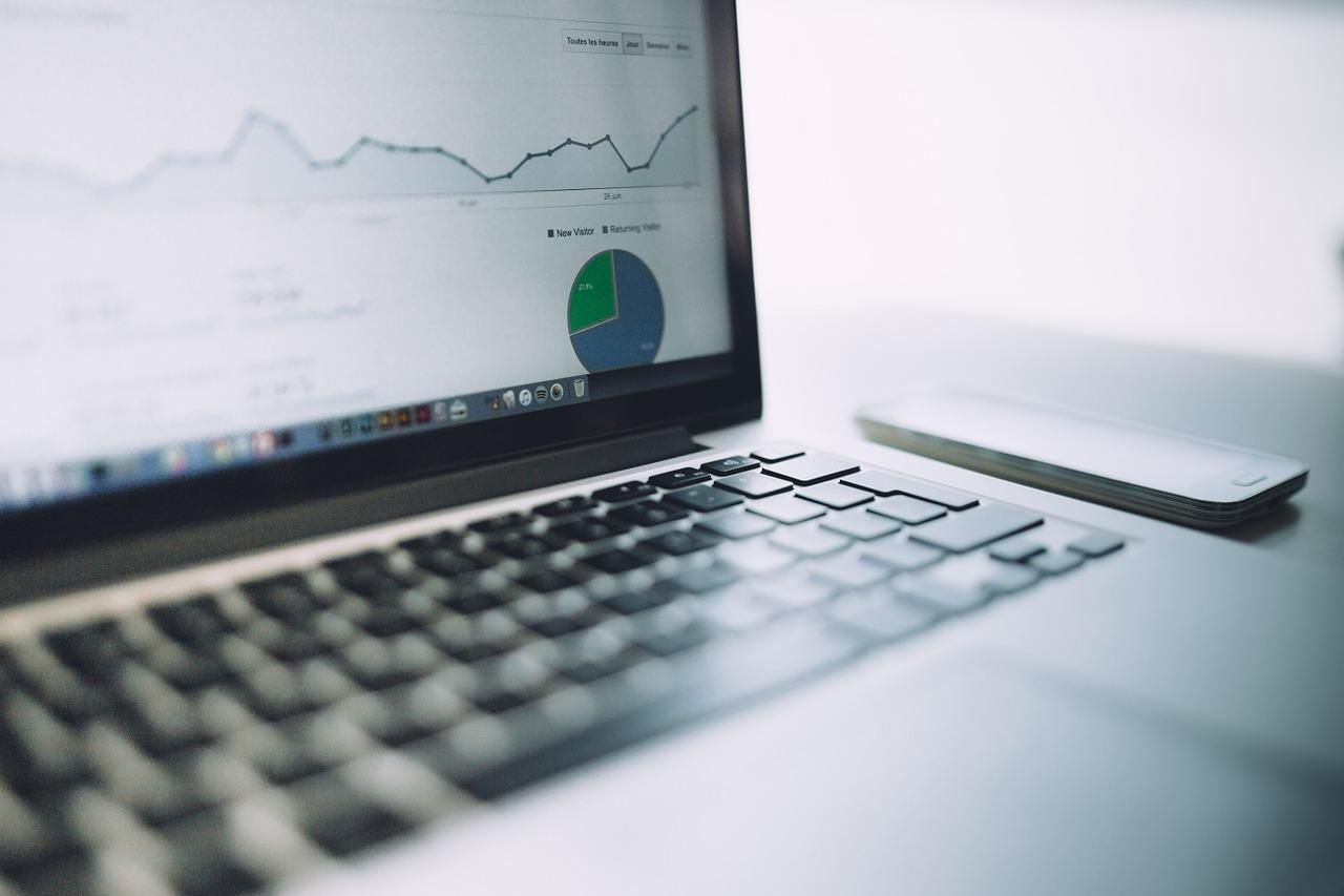 analytics, charts, traffic