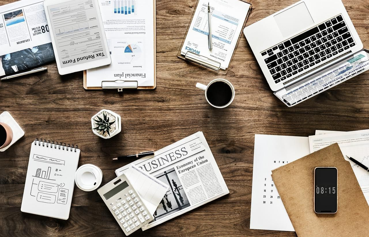 desk, work, business