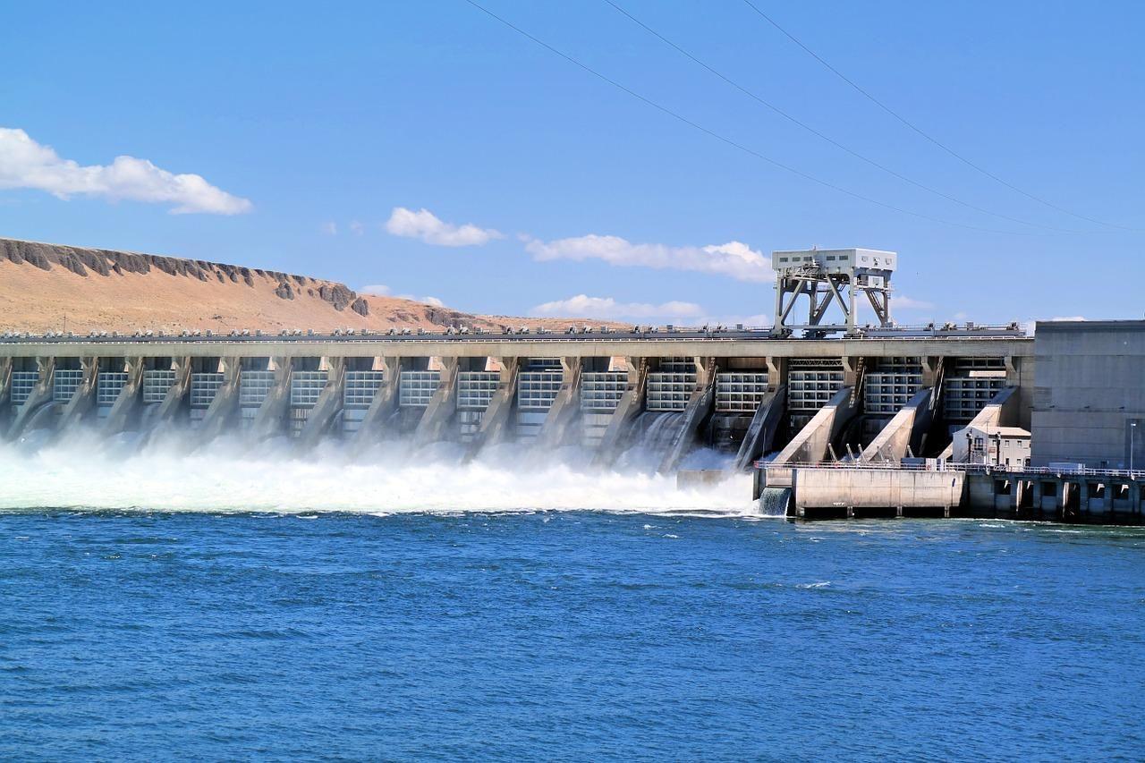 dam, river, water