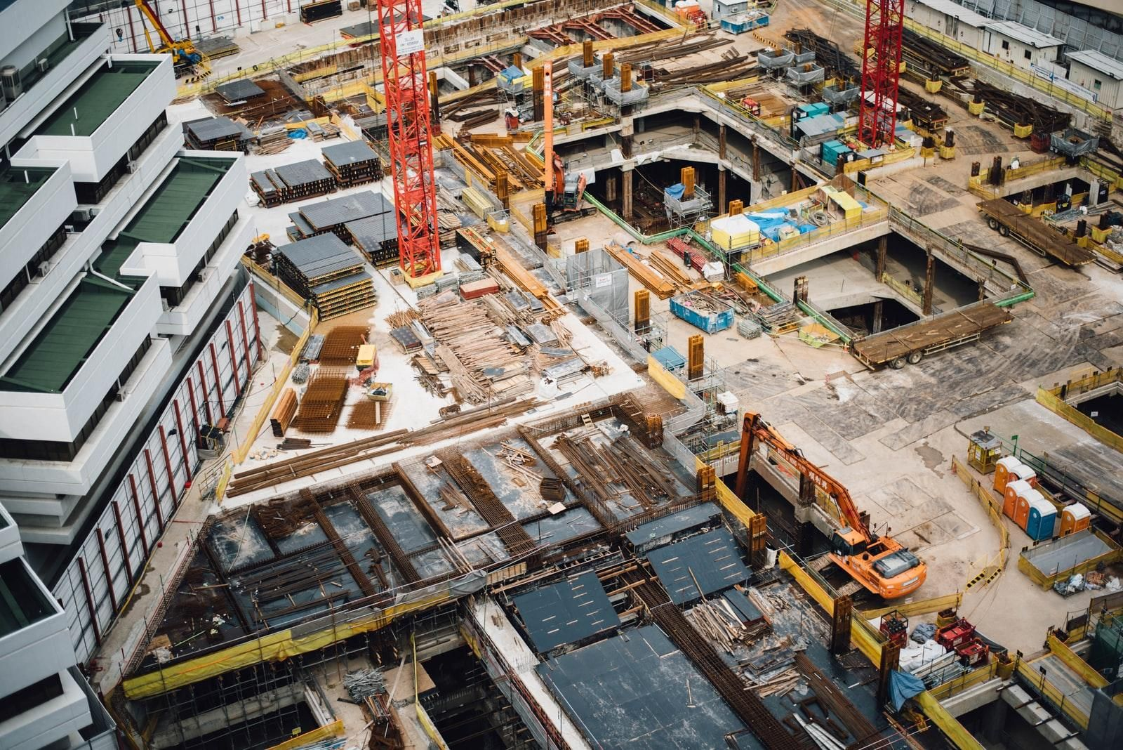 View Above Construction Site