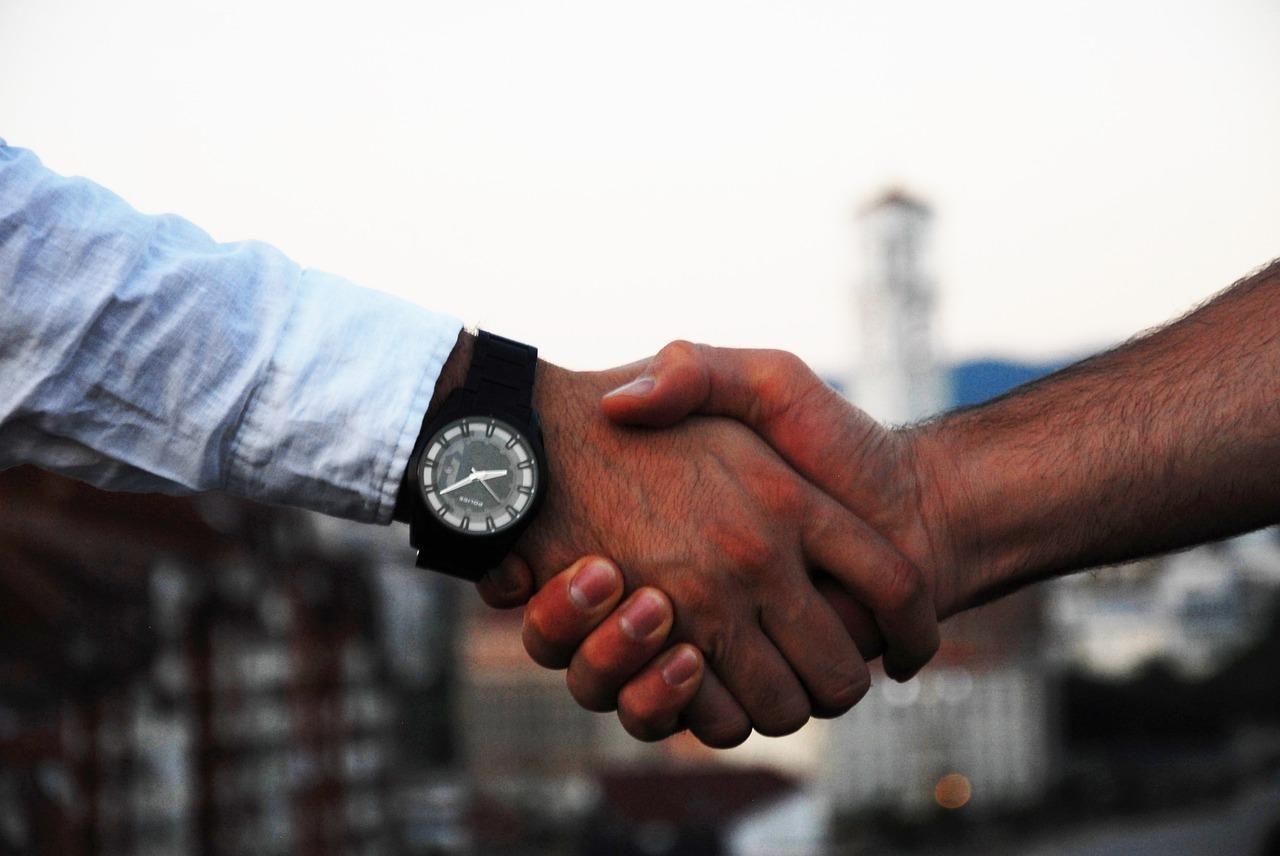 handshake, business, hand