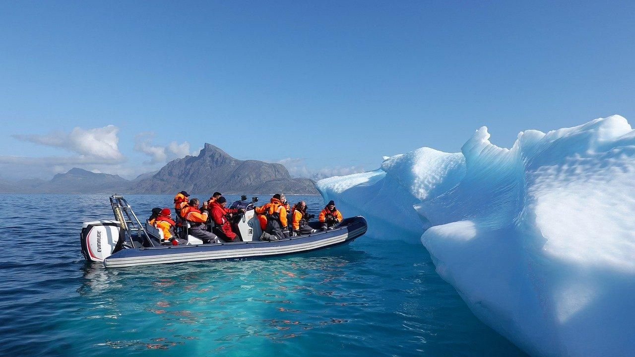 iceberg, ice, greenland