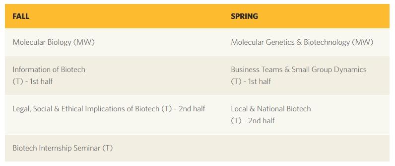 Mestrado em Biotecnologia, Orange, EUA 2019